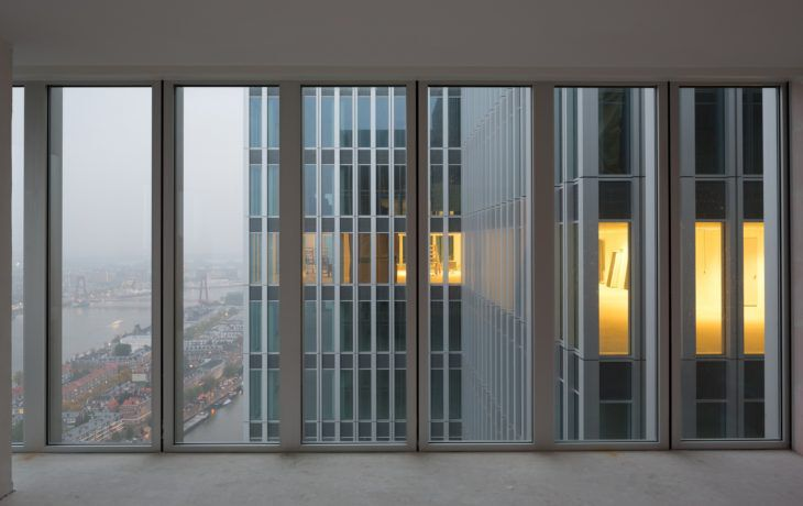 10 reducida.Inside view on east tower_ Image courtesy of OMA; photography by Ossip van Duivenbode