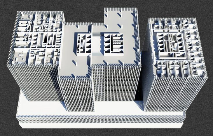 5. reducida Perspective Plan Low Rise_Copyright OMA