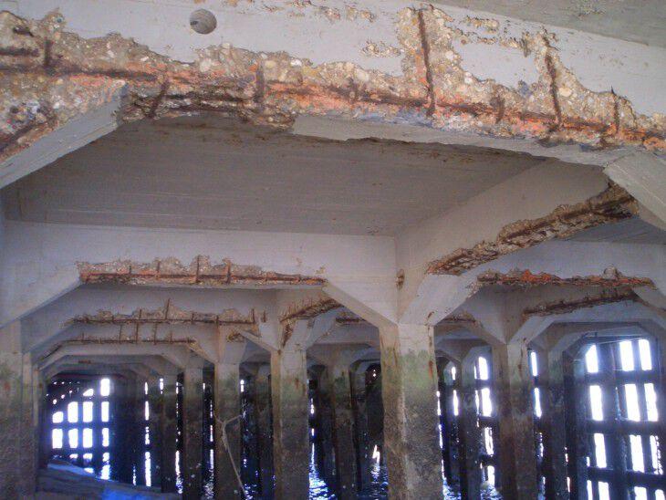 Estructura con corrosión